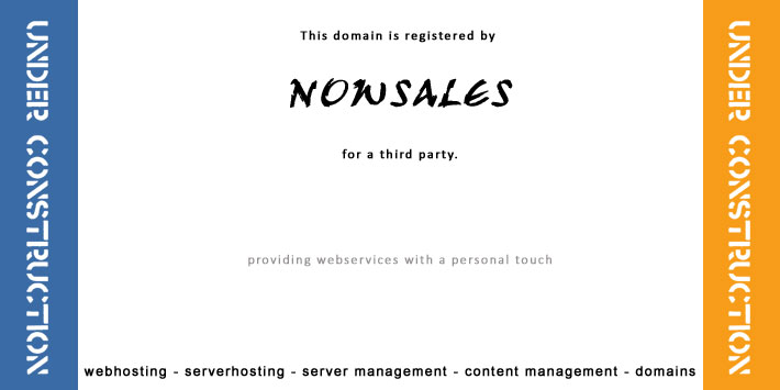 This webspace is being developed by NOWSALES for a third party.
